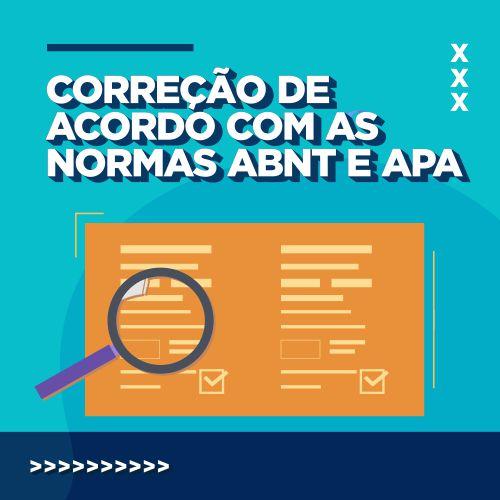 Pensar EaD - Correção de acordo com as normas ABNT e APA